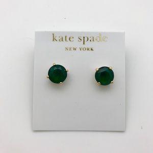 Kate Spade Faux Emerald Ear Studs NWT